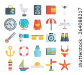 modern flat icons vector... | Shutterstock .eps vector #264088217