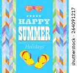 summer holidays poster.     | Shutterstock .eps vector #264091217