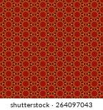 hexagon pattern  vector... | Shutterstock .eps vector #264097043