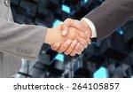 handshake between two business... | Shutterstock . vector #264105857