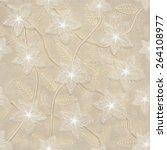 3d flowers  seamless   Shutterstock . vector #264108977