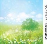 vector spring landscape. | Shutterstock .eps vector #264112733