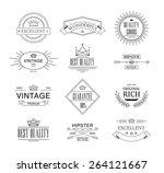 retro vintage insignias or... | Shutterstock .eps vector #264121667