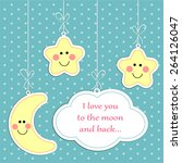 "cute ""i love you to the moon... 