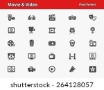 movie   video icons.... | Shutterstock .eps vector #264128057