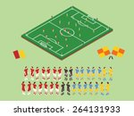flat style soccer tactic table. ... | Shutterstock .eps vector #264131933