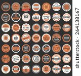 premium quality retro badges... | Shutterstock .eps vector #264138167