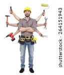 handyman with tools | Shutterstock . vector #264151943