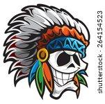 indian chief | Shutterstock .eps vector #264154523