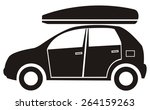 car and back  black silhouette | Shutterstock .eps vector #264159263