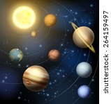 planets of the solar system... | Shutterstock .eps vector #264159497