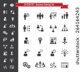 business training set   20 icon ... | Shutterstock .eps vector #264164243