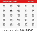 file formats icons.... | Shutterstock .eps vector #264173843
