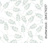 hand drawn leaves vector... | Shutterstock .eps vector #264174257