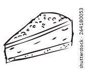 piece of cake doodle | Shutterstock .eps vector #264180053