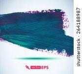 vector acrylic blue ink spot. ... | Shutterstock .eps vector #264188987