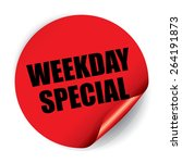 weekday special sticker and tag | Shutterstock . vector #264191873