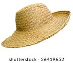 Antique Straw Hat  Isolated...