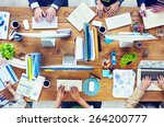 people working in a conference... | Shutterstock . vector #264200777
