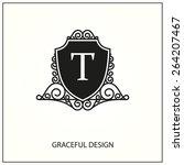 decorative monogram. design... | Shutterstock .eps vector #264207467
