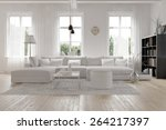 modern spacious lounge or... | Shutterstock . vector #264217397