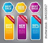 web sale banner | Shutterstock .eps vector #264222017