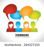 bubbles design over white...   Shutterstock .eps vector #264227153