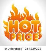 shopping design over white... | Shutterstock .eps vector #264229223