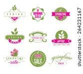 spring sale retro icon... | Shutterstock .eps vector #264231167