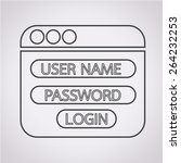 website login form icon