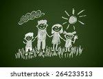 happy family | Shutterstock . vector #264233513