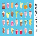 a collection of twenty eight... | Shutterstock .eps vector #264233867