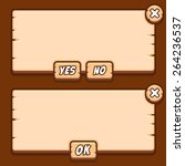 game wooden menu interface...