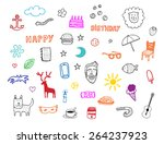 miscellaneous set background... | Shutterstock .eps vector #264237923