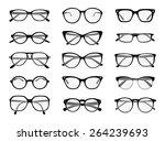 big set of vector isolated... | Shutterstock .eps vector #264239693
