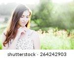 outdoor color closeup fashion...   Shutterstock . vector #264242903
