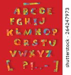 color alphabet with the effect... | Shutterstock .eps vector #264247973