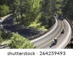 elevated view of motorcycles... | Shutterstock . vector #264259493