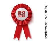 best choice  realistic red... | Shutterstock .eps vector #264285707