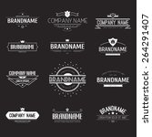 vintage logo set  retro design... | Shutterstock .eps vector #264291407