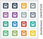 very useful flat icon of bus...