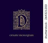 ornate and elegant monogram... | Shutterstock .eps vector #264321203