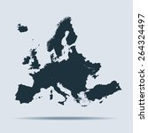 europe map | Shutterstock .eps vector #264324497