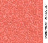 kitchen line icon pattern set | Shutterstock .eps vector #264327287