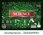 hand drawn about mathematics on ... | Shutterstock .eps vector #264344993