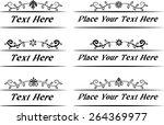 calligraphic decorative... | Shutterstock .eps vector #264369977