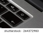 a macro shot from keyboard.... | Shutterstock . vector #264372983