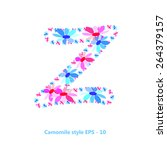 z letter flower for your design | Shutterstock .eps vector #264379157