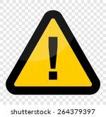 warning sign vector  | Shutterstock .eps vector #264379397