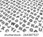 letters of the english alphabet.... | Shutterstock . vector #264387527